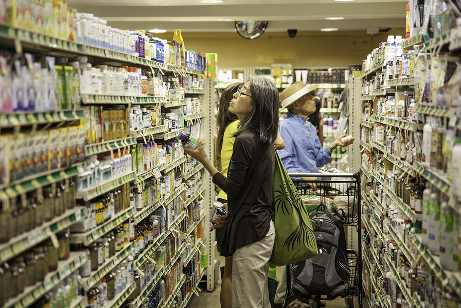 Photo: Customers Shopping in the Wellness Center