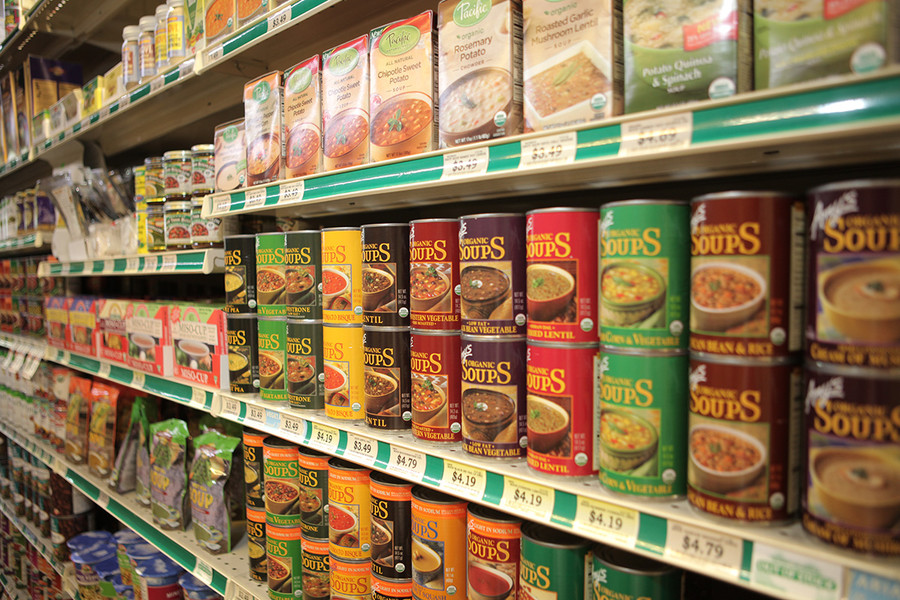 Photo: Soups in the Grocery Aisle