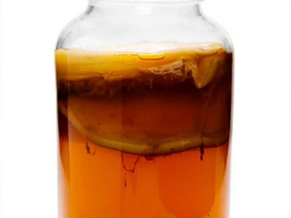 Photo: Jar of Iced Kombucha