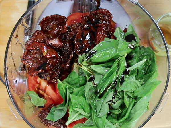Photo: Chopped and Sundried Tomatoes, Basil, and Balsamic Vinegar