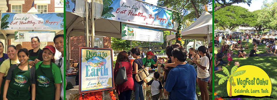 Photo: Down to Earth Staff at VegFest